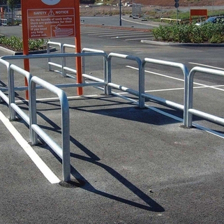 Trolley Hooped Barrier Rails (76mm Dia) 'Supermarket Favourite'