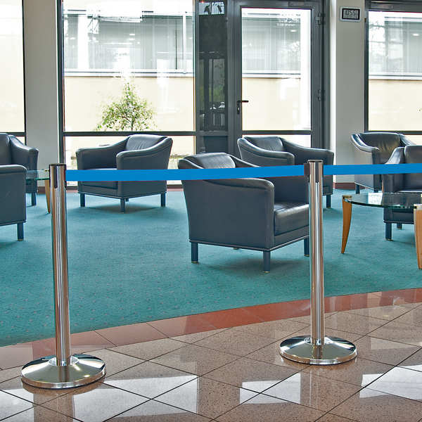 Stretch Belt Barrier -Stainless Steel (2.5m) Conforms to the latest EU regulations. image
