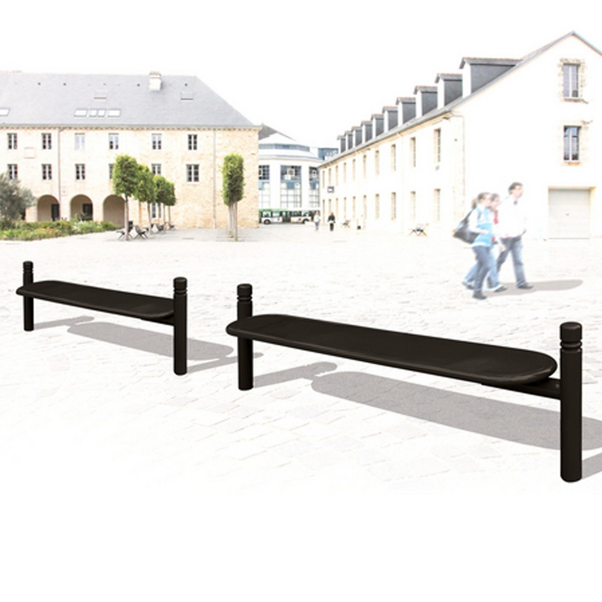 Estoril park bench black