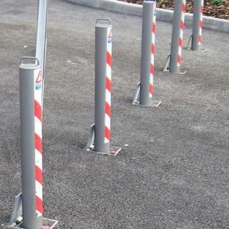 Telescopic bollard 745mm Above Ground Integral Lock