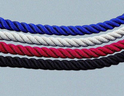 Tensabarrier® Twisted Rope for barrier with Snap Ends - Variety of Colours/Lengths