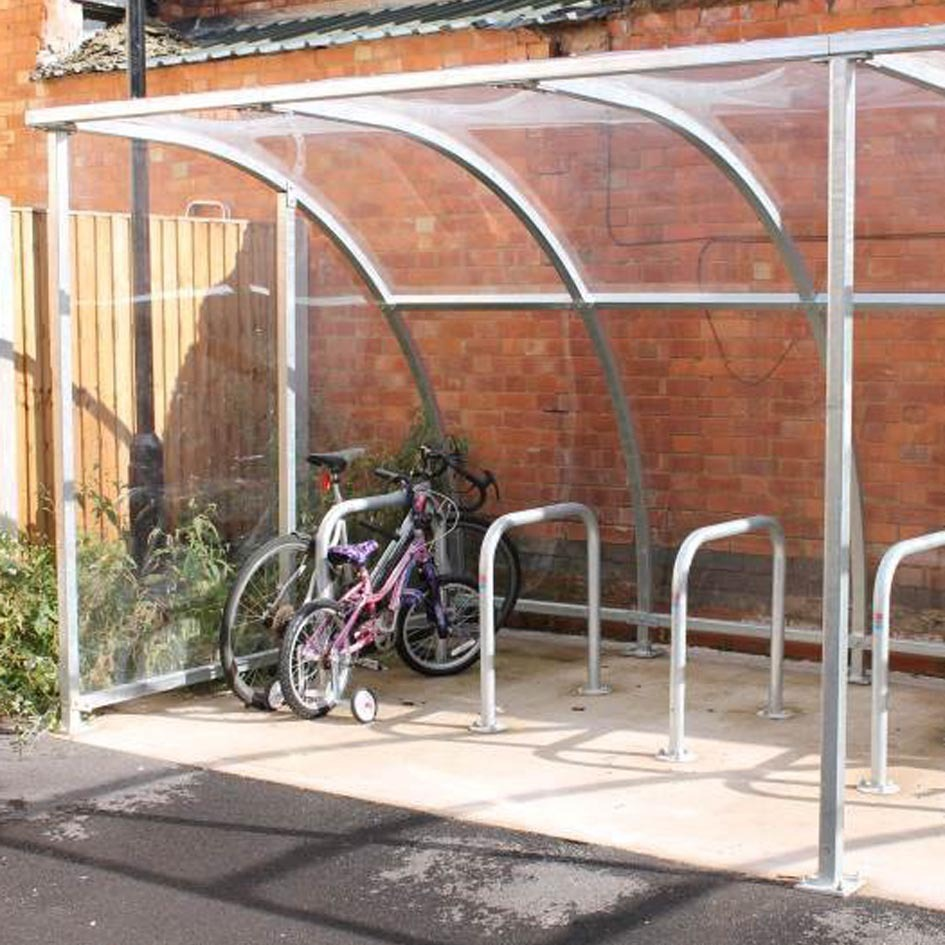 Secure Bike Shelters : Stratford cycle shelter fully modular easy to install