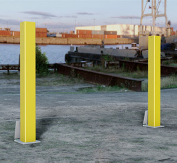 Bollard Removable Yellow Square