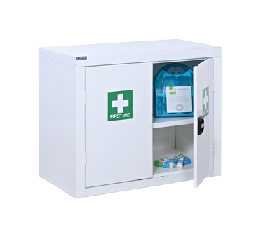 First Aid  Cupboards -Floor standing, wall mounted or mobile cupboards.