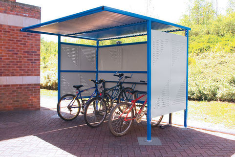 Cycle Shelter- Steel Perforated Cladding