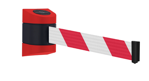 Tensabarrier® Wall Mounted Stretch Barrier MAXI - 7.7m & 9m tapes - Standard Fixing - Wall Clip Provided