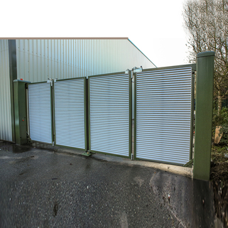 Bi Folding Speed Gate- with Louvre infills (Automatic)