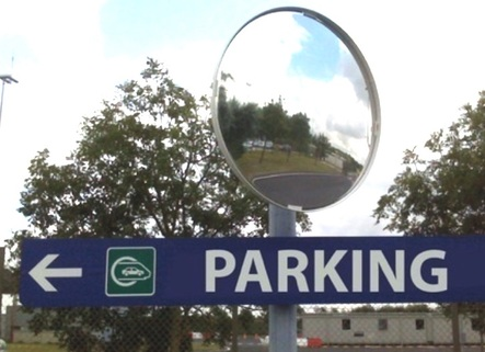 Security & Safety Mirrors 2 Directional for Parking & Industrial use - It does the trick!