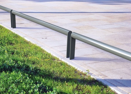 Security Rail for delineation or Motorcycle parking