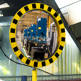 Safety Mirrors - Hi-Vis Industrial Road  - 5 year Guarantee - VIALUX®