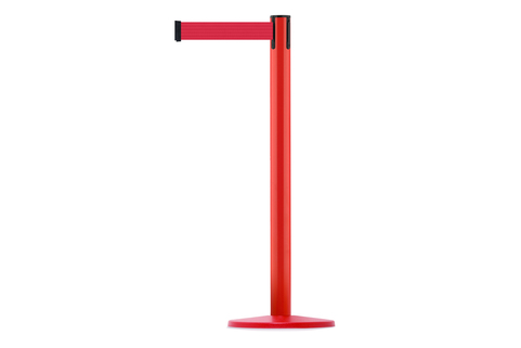 Tensabarrier® Retractable Coloured barrier Advance Post - 2.3m & 3.65m webbing