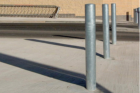Bollards - Taller Mild Steel Popular - 1200mm above ground