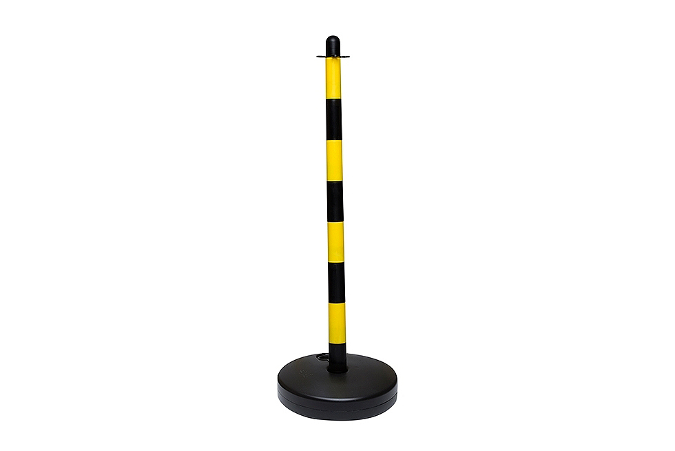 Yellow and black water base plastic chain post 1