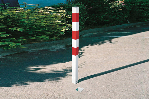 Bollard Hi-Vis Security Round or Square- Fixed or Removable