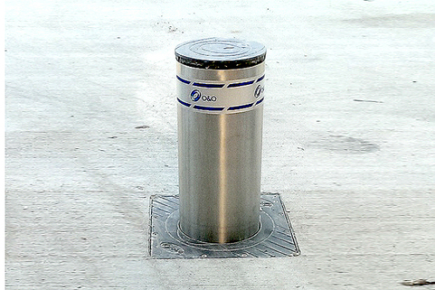 Telescopic Bollard in Stainless Steel-Automatic Rising-COMMERCIAL USE