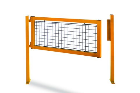 Railing system's gate - Perfect for defining access to protected warehousing areas