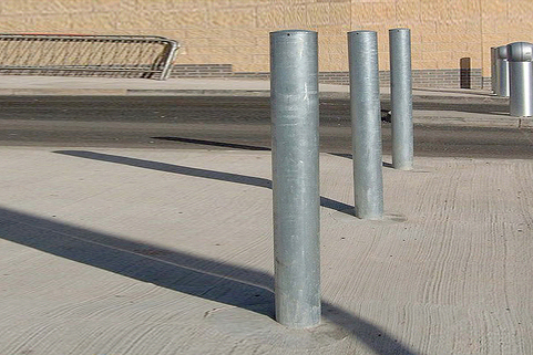 Bollards Mild Steel (60-193mm DIA) 900mm above ground - Tough
