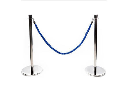 Rope nd Post VIP Barrier 4 way connecting ring