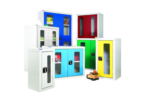 Cupboards with Vision Door - High quality perspex door allows you to see the contents of the cupboard whilst locked