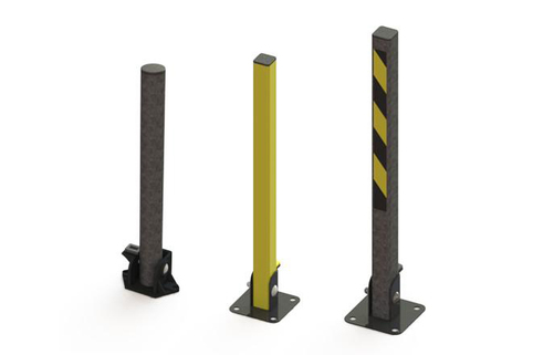 Bollard Fold down 750mm above ground-Key operated-a simple but secure solution where security is the issue.