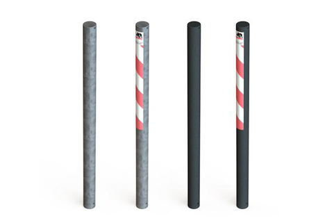 Bollard Steel (76mm DIA) 1000mm above ground - elegant and efficient