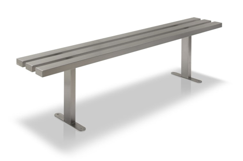 Benches in Stainless Steel with choice of wood slats