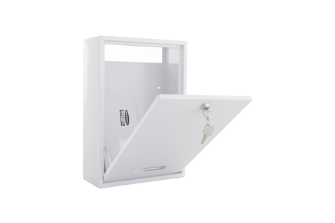 Mailbox - rear access for door mail slot