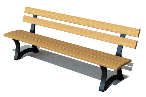 Bench  Bardot is ideal for heavy usage area. Supplied with Iroko wood