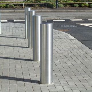 Stainless steel bollard   1200mm overall length