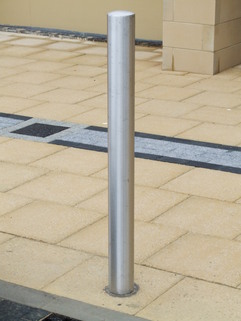Stainless steel bollard   1500mm overall length