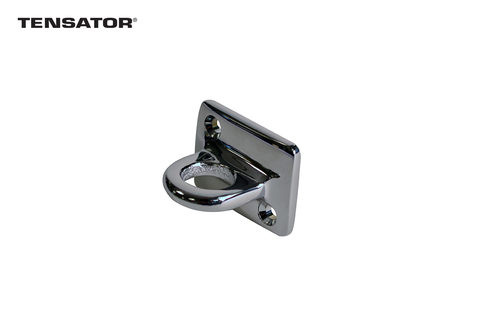 Tensator® Wall Plate (Brass or Chrome) for Rope and Post  barrier